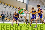 Killian Young South Kerry in Action against Stephen O'Brien Kenmare in the County Senior Football Semi Final at Fitzgerald Stadium Killarney on Sunday.