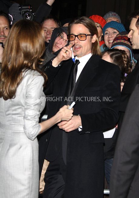 WWW.ACEPIXS.COM . . . . .  ..... . . . . US SALES ONLY . . . . .....February 13 2012, Berlin....Angelina Jolie and Brad Pitt at the Cinema for Peace gala on Februay 13 2012 in Berlin ....Please byline: FAMOUS-ACE PICTURES... . . . .  ....Ace Pictures, Inc:  ..Tel: (212) 243-8787..e-mail: info@acepixs.com..web: http://www.acepixs.com