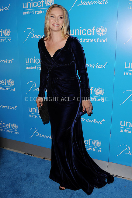 WWW.ACEPIXS.COM . . . . . .November 27, 2012...New York City....Uma Thurman attends the Unicef Snowflake Ball at Cipriani 42nd Street on November 27, 2012 in New York City ....Please byline: KRISTIN CALLAHAN - ACEPIXS.COM.. . . . . . ..Ace Pictures, Inc: ..tel: (212) 243 8787 or (646) 769 0430..e-mail: info@acepixs.com..web: http://www.acepixs.com .
