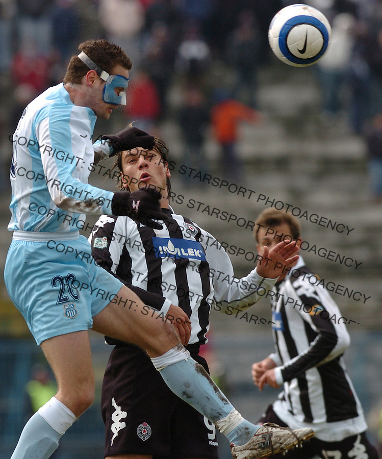 SPORT FUDBAL FOOTBALL SOCCER OFK BEOGRAD PARTIZAN BELGRADE SERBIA Milos Bajalica 25.2.2006. foto: Pedja Milosavljevic<br />