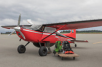 Yakutat Coastal Air bush plane for landing on beaches along the coast.