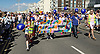 Brighton Pride <br /> parade, atmosphere and music in Preston Park, Brighton, East Sussex, Great Britain <br /> 6th August 2016 <br /> <br /> <br /> Brighton Pride - Terrence Higgins Trust <br /> supporting people with HIV promoting sexual health <br /> <br /> Photograph by Elliott Franks <br /> Image licensed to Elliott Franks Photography Services