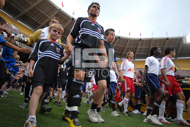 DC United forward Jaime Moreno (99) during the introduction of the teams. DC United defeated the New York Red Bulls, 4-2, at RFK Stadium in Washington DC, Sunday, June 10, 2007.
