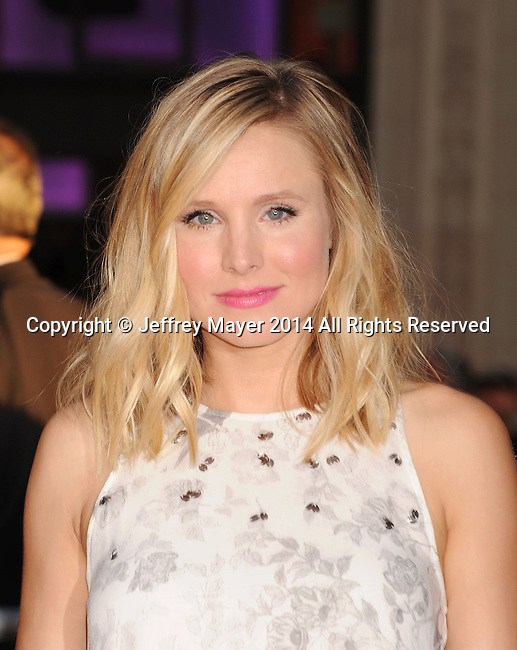 HOLLYWOOD, CA- SEPTEMBER 15: Actress Kristen Bell arrives at the 'This Is Where I Leave You' - Los Angeles Premiere at TCL Chinese Theatre on September 15, 2014 in Hollywood, California.