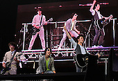 5fairjonasbrothers-ALLENTOWN-ARTS+ENTERTSINMENT-REPORTER ?-The Jonas Brothers, Nick, Joe and Kevin Jonas, perform at the Allentown Fair Grounds in Allentown, Pa., on Saturday August 30, 2008. (Jane Therese/Special to The Morning Call)
