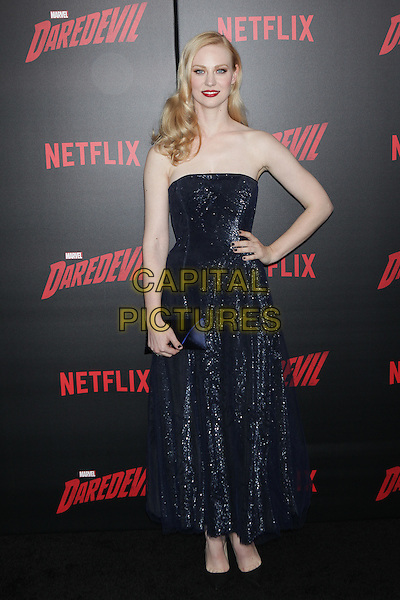 NEW YORK, NY - MARCH 10: Deborah Ann Woll   at the 'Daredevil' season 2 premiere at AMC Loews Lincoln Square 13 theater on March 10, 2016 in New York City. <br /> CAP/MPI99<br /> &copy;MPI99/Capital Pictures
