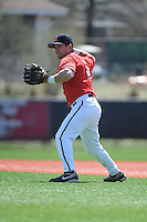 Rutgers University Scarlet Knights infielder Nick Favatella (5) during practice before a game against the University of Cincinnati Bearcats at Bainton Field on April 19, 2014 in Piscataway, New Jersey. Rutgers defeated Cincinnati 4-1.  (Tomasso DeRosa/ Four Seam Images)