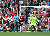 9th September 2017, Emirates Stadium, London, England; EPL Premier League Football, Arsenal versus Bournemouth; Danny Welbeck of Arsenal heads the ball to score his sides 1st goal in the 33rd minute to make it 1-0