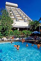 Hotel Intercontinental em Manágua, Nicarágua. 1981. Foto de Juca Martins.