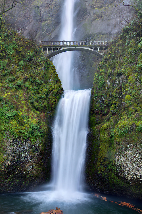 Multnomah Falls Oregon High Dynamic Range HDR Art Photographs pictures Columbia RIver Gorge