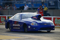 Jun. 29, 2012; Joliet, IL, USA: NHRA pro stock driver Steve Spiess during qualifying for the Route 66 Nationals at Route 66 Raceway. Mandatory Credit: Mark J. Rebilas-