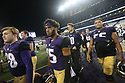 SEATTLE, WA - September 29:  Washington's Alex Cook against BYU during the football game between the Washington Huskies and the BYU Cougars on September 29, 2018 at Husky Stadium in Seattle, WA. Washington won 27-20 over BYU.