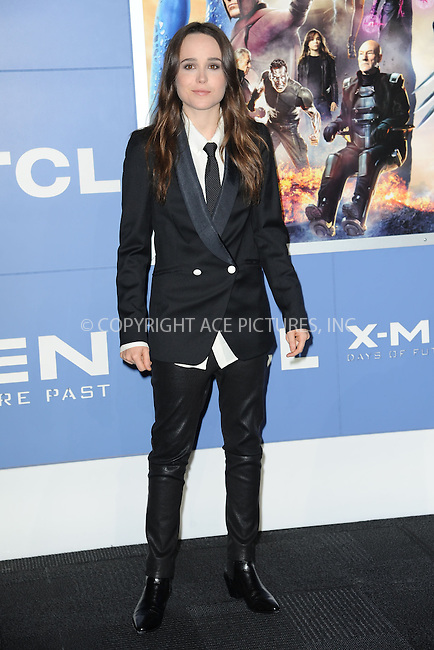 WWW.ACEPIXS.COM<br /> May 10, 2014 New York City<br /> <br /> Ellen Page attending the 'X-Men: Days Of Future Past' world premiere at Jacob Javits Center onMay 10, 2014 in New York City.<br /> <br /> Please byline: Kristin Callahan<br /> <br /> ACEPIXS.COM<br /> <br /> Tel: (212) 243 8787 or (646) 769 0430<br /> e-mail: info@acepixs.com<br /> web: http://www.acepixs.com