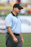 March 18th 2008:  MLB Umpire Mark Carlson during a Spring Training game at Bright House Networks Field in Clearwater, FL.  Photo by:  Mike Janes/Four Seam Images
