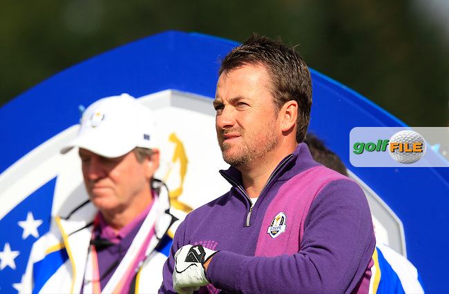 Graeme McDowell (EUR)  during Practice on Wednesday at the 40th Ryder Cup, The Gleneagles Hotel, Perthshire from 26th to 28th September 2014<br /> Picture Eoin Clarke, www.golffile.ie