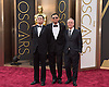 William Chang Suk Ping, cinematographer Philippe Le Sourd and director Wong Kar-wai <br /> 86TH OSCARS<br /> The Annual Academy Awards at the Dolby Theatre, Hollywood, Los Angeles<br /> Mandatory Photo Credit: &copy;Dias/Newspix International<br /> <br /> **ALL FEES PAYABLE TO: &quot;NEWSPIX INTERNATIONAL&quot;**<br /> <br /> PHOTO CREDIT MANDATORY!!: NEWSPIX INTERNATIONAL(Failure to credit will incur a surcharge of 100% of reproduction fees)<br /> <br /> IMMEDIATE CONFIRMATION OF USAGE REQUIRED:<br /> Newspix International, 31 Chinnery Hill, Bishop's Stortford, ENGLAND CM23 3PS<br /> Tel:+441279 324672  ; Fax: +441279656877<br /> Mobile:  0777568 1153<br /> e-mail: info@newspixinternational.co.uk