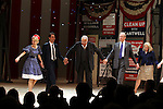 Kerry Butler, Eric McCormack,  James Earl Jones,  John Larroquette, Candice Bergen.during the Broadway Opening Night Performance Curtain Call for 'Gore Vidal's The Best Man' at the Gerald Schoenfeld Theatre in New York City on 4/1/2012