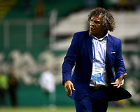 PALMASECA-COLOMBIA,05-06-2019.Alberto Gamero director técnico del Deportes Tolima eliminado de la final durante el sexto partido de los cuadrangulares finales de la Liga Águila I 2019 contra el Deportivo Cali jugado en el estadio Deportivo Cali de la ciudad de Palmira./Alberto Gamero coach of Deportes Tolima eliminated of final during the sixth match for  for the quarter finals B of the Liga Aguila I 2019  the Aguila League I 2019 agaisnt of Deportivo Cali played at Deportivo Cali stadium in Palmaseca city. Photo: VizzorImage/ Nelson Rios / Contribuidor