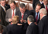 United States President Donald J. Trump is given a &quot;thumbs-up&quot; by US Representative Peter King (R-NY) after addressing a joint session of Congress on Capitol Hill in Washington, DC, February 28, 2017. <br /> Credit: Chris Kleponis / CNP