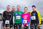At the Puck Warriors annual 5k and 10km Jingle Run on Saturday were l-r  Pat Sheehan, Michael O'Callaghan, Karl Daly, Vivien Juffs and Stephen Griffin