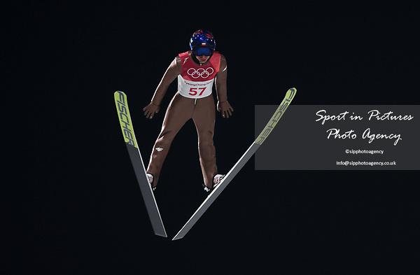 Kamil Stoch (POL). Mens normal hill individual. Qualification. Ski jumping. Alpensia ski jump centre. Pyeongchang2018 winter Olympics. Alpensia. Pyeongchang. Republic of Korea. 08/02/2018. ~ MANDATORY CREDIT Garry Bowden/SIPPA - NO UNAUTHORISED USE - +44 7837 394578