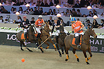 Team Asia vs Team Europe during the Shanghai Tang Polo Cup as part of the Longines Masters of Hong Kong on 21 February 2016 at the Asia World Expo in Hong Kong, China. Photo by Li Man Yuen / Power Sport Images