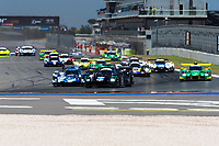 12th January 2020; The Bend Motosport Park, Tailem Bend, South Australia, Australia; Asian Le Mans, 4 Hours of the Bend, Race Day; The start of the race as cars head into the first corner - Editorial Use