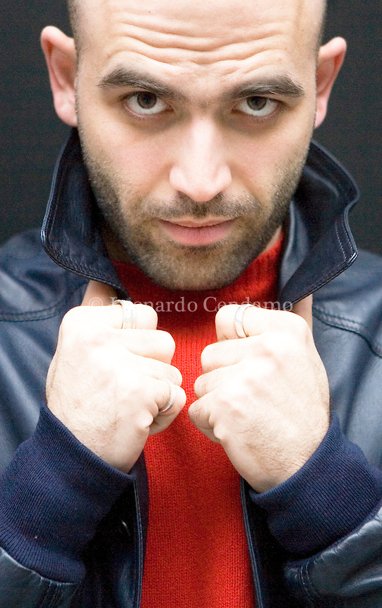 New York, USA, 2008. The Italian writer Roberto Saviano, author of 'Gomorra'. Saviano has participated in the 2008 edition of Pen World Voices in New York.