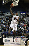 Agassi Prep's Terell Kemp gets a dunk during the NIAA 2A State Basketball Championship game between West Wendover and Agassi Prep high schools at Lawlor Events Center, in Reno, Nev, on Saturday, Feb. 25, 2012. .Photo by Cathleen Allison