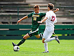 13 September 2009: University of Vermont Catamount midfielder/forward Patrick Alonis, a Sophomore from Palo Alto, CA, in action against the University of Massachusetts Minutemen during the second round of the 2009 Morgan Stanley Smith Barney Soccer Classic held at Centennial Field in Burlington, Vermont. The Catamounts and Minutemen battled to a 1-1 double-overtime tie. Mandatory Photo Credit: Ed Wolfstein Photo