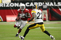 10/23/11 Glendale, AZ: Arizona Cardinals wide receiver Early Doucet #85 during an NFL game played at University of Phoenix Stadium between the Arizona Cardinals and the Pittsburgh Steelers. The Steelers defeated the Cardinals 32-20.