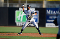 Tampa Yankees second baseman Angelo Gumbs #13 during a game against the Dunedin Blue Jays on April 11, 2013 at Florida Auto Exchange Stadium in Dunedin, Florida.  Dunedin defeated Tampa 3-2 in 11 innings.  (Mike Janes/Four Seam Images)