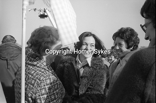 Peace Movement. Peace People. Peace March. Mairead Corrigan Maguire meets well wishers Hyde Park LOndon rally then march to Trafalgar Square. 1976...My ref 3/1481/, 1976,