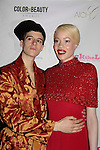 Rain Dove & Diandra Forrest at Color of Beauty Awards hosted by VH1's Gossip Table's Delaina Dixon and Maureen Tokeson-Martin on February 28, 2015 with red carpet, awards and cocktail reception at Ana Tzarev Gallery, New York City, New York.  (Photo by Sue Coflin/Max Photos)