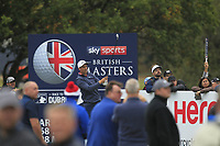 Ross Fisher (ENG) on the 13th tee during Round 1of the Sky Sports British Masters at Walton Heath Golf Club in Tadworth, Surrey, England on Thursday 11th Oct 2018.<br /> Picture:  Thos Caffrey | Golffile<br /> <br /> All photo usage must carry mandatory copyright credit (© Golffile | Thos Caffrey)