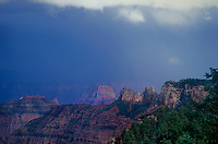 749220301 a summer monsoon thunderstorm forms over the canyon formatims storm along the road to cape royal on the north rim of grand canyon national park in northern arizona