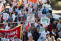 Thousands join march to save Ealing Hospital A&E 15-9-12 Thusand of local people join a march organised by local Trade Unions to save the Accident and Emergency department of Ealing Hospital.