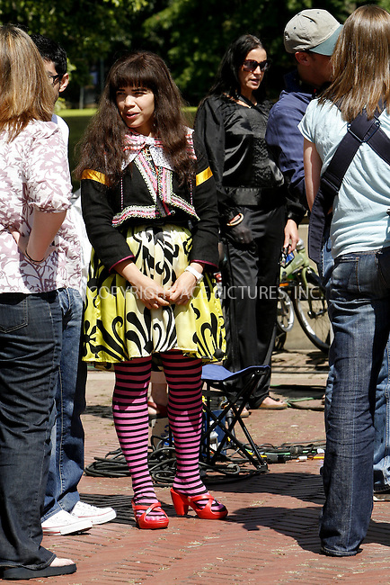 WWW.ACEPIXS.COM . . . . .  ....September 10, 2008. New York City.....Actress America Ferrera on the set of TV show 'Ugly Betty in Central Park on September 10, 2008 in New York City.......Please byline: NANCY RIVERA - ACEPIXS.COM.... *** ***..Ace Pictures, Inc:  ..Philip Vaughan  (646) 769 0430..e-mail: info@acepixs.com..web: http://www.acepixs.com