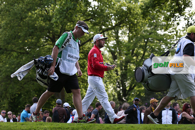 Andy Sullivan (ENG) held for par during Round Three of the 2015 BMW PGA Championship over the West Course at Wentworth, Virginia Water, London. 23/05/2015. Picture David Lloyd | www.golffile.ie.