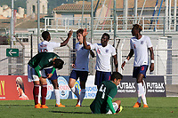 England U21's celebrate their second goal scored by Kieran Dowell during Mexico Under-21 vs England Under-21, Tournoi Maurice Revello Final Football at Stade Francis Turcan on 9th June 2018