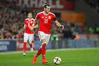 Gareth Bale of Wales during the FIFA World Cup Qualifying match between Wales and Serbia at the Cardiff City Stadium, Cardiff, Wales on 12 November 2016. Photo by Mark  Hawkins.