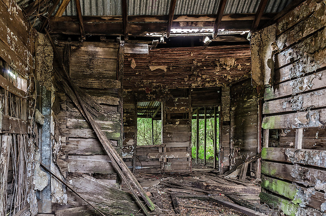 An abandoned house in the small town of Nile in Tasmania, Australia.
