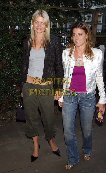GEMMA KIDD & FRANCESCA VERSACE.Mercedes-Benz launch of new Maybach car and Tatler magazine summer party in Portman Square..www.capitalpictures.com.sales@capitalpictures.com.©Capital Pictures.cropped trousers, khaki, quilted jacket.