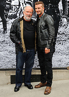 NEW YORK CITY, NY, USA - SEPTEMBER 09: Photographer/ filmmaker Peter Lindbergh and David Beckham arrive at the 'Belstaff: Off Road/David Beckham' Book Signing held at the Belstaff House on September 9, 2014 in New York City, New York, United States. (Photo by Celebrity Monitor)