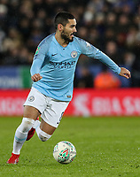 Manchester City's Ilkay Gundogan <br /> <br /> Photographer Andrew Kearns/CameraSport<br /> <br /> English League Cup - Carabao Cup Quarter Final - Leicester City v Manchester City - Tuesday 18th December 2018 - King Power Stadium - Leicester<br />  <br /> World Copyright &copy; 2018 CameraSport. All rights reserved. 43 Linden Ave. Countesthorpe. Leicester. England. LE8 5PG - Tel: +44 (0) 116 277 4147 - admin@camerasport.com - www.camerasport.com