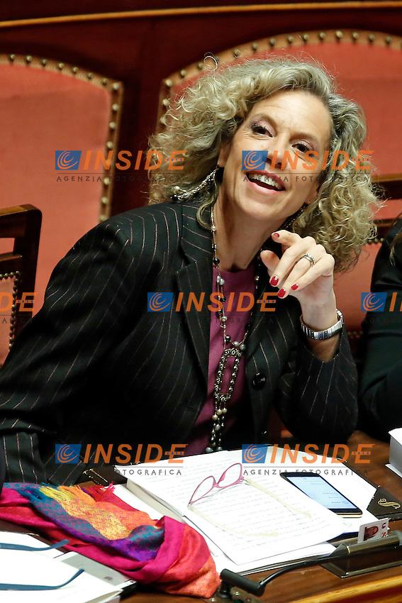 Monica Cirinna'<br /> Roma 02-02-2016 Senato. Voto delle pregiudiziali di costituzionalit&agrave;' sul DDL Unioni Civili.<br /> Senate. Debate about the Decree law on civil unions.<br /> Photo Samantha Zucchi Insidefoto