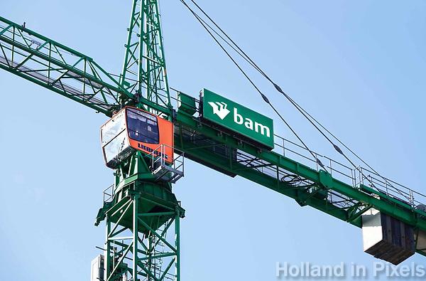 Nederland Amsterdam 2018. Hijskraan van BAM bij het Amstelkwartier . Foto Berlinda van Dam - Hollandse Hoogte