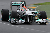 MELBOURNE, 16 March - Michael Schumacher of the Mercedes AMG Petronas F1 Team  during free practise session one of the the 2012 Formula One Australian Grand Prix at the Albert Park Circuit in Melbourne, Australia. (Photo Sydney Low / syd-low.com)