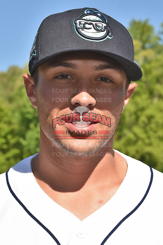 Asheville Tourists pitcher Gavin Glanz (31) before a game against the Lexington Legends on May 2, 2015 in Asheville, North Carolina. The Legends defeated the Tourists 12-3. (Tony Farlow/Four Seam Images)