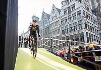 Michael Goolaerts (BEL/Willems Veranda's-Crelan) at team presentation Willems Veranda's-Crelan<br /> <br /> 101st Ronde van Vlaanderen  2017 (1.UWT)<br /> 1day race: Antwerp-Oudenaarde (260km)
